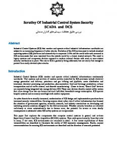 Scrutiny Of Industrial Control System Security SCADA and DCS