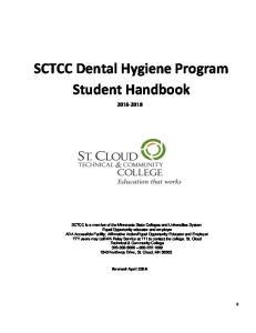 SCTCC Dental Hygiene Program Student Handbook