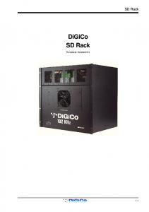 SD Rack. DiGiCo SD Rack. Provisional - October