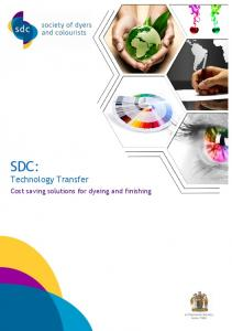 SDC: Technology Transfer. Cost saving solutions for dyeing and finishing