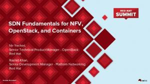 SDN Fundamentals for NFV, OpenStack, and Containers