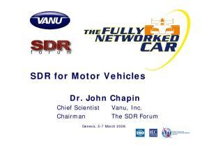 SDR for Motor Vehicles