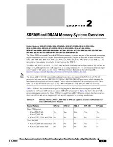 SDRAM and DRAM Memory Systems Overview
