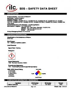 SDS SAFETY DATA SHEET