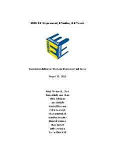 SDSU E3: Empowered, Effective, & Efficient