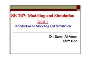 SE 207: Modeling and Simulation