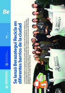 Se lanzó Berazategui Recicla en diferentes barrios de la ciudad