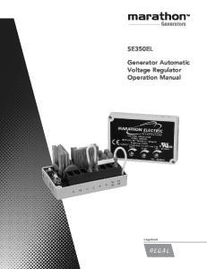 SE350EL Generator Automatic Voltage Regulator Operation Manual