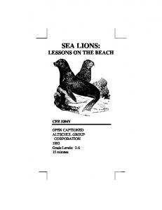 SEA LIONS: LESSONS ON THE BEACH CFE 3294V