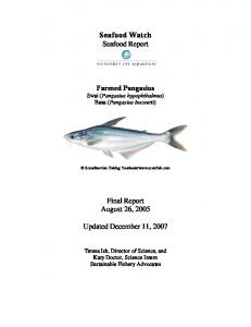 Seafood Watch Seafood Report