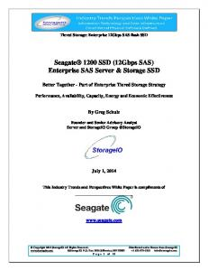 Seagate 1200 SSD (12Gbps SAS) Enterprise SAS Server & Storage SSD