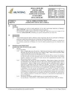 SEAL-LOCK HC ANCILLARY SPECIFICATIONS ESPECIFICACIONES AUXILIARES SEAL-LOCK HC