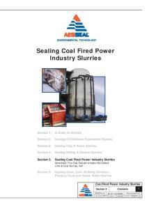 Sealing Coal Fired Power Industry Slurries