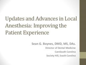 Sean G. Boynes, DMD, MS, DAs. Director of Dental Medicine CareSouth Carolina Society Hill, South Carolina