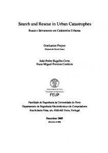 Search and Rescue in Urban Catastrophes