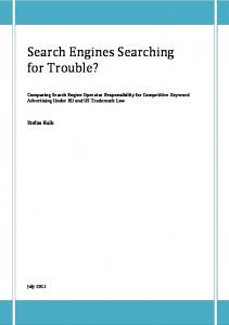 Search Engines Searching for Trouble?