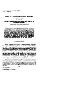 Search for a Monetary Propagation Mechanism