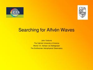 Searching for Alfvén Waves