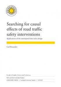 Searching for causal effects of road traffic safety interventions