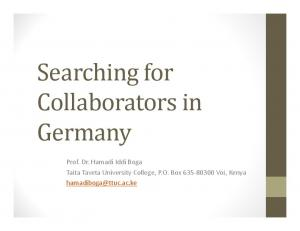Searching for Collaborators in Germany