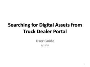 Searching for Digital Assets from Truck Dealer Portal User Guide