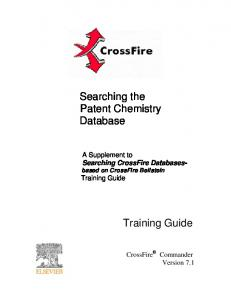 Searching the Patent Chemistry Database