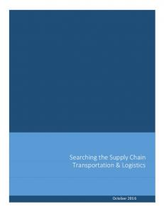 Searching the Supply Chain Transportation & Logistics