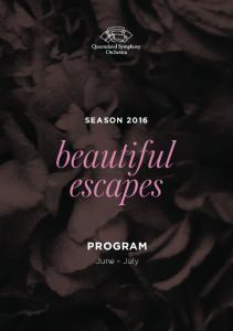 SEASON 2016 PROGRAM. June July