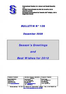 Season s Greetings. and. Best Wishes for 2010
