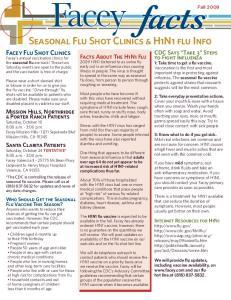 Seasonal Flu Shot Clinics & H1N1 flu Info