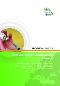 Seasonal influenza vaccination in Europe