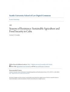 Seasons of Resistance: Sustainable Agriculture and Food Security in Cuba