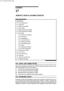 SEBI IN CAPITAL MARKET ISSUES