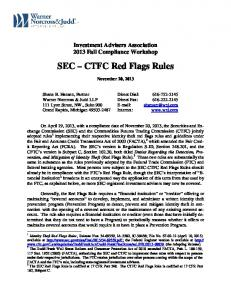 SEC CTFC Red Flags Rules