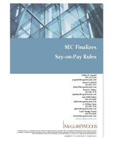 SEC Finalizes Say-on-Pay Rules