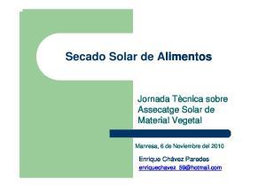 Secado Solar de Alimentos
