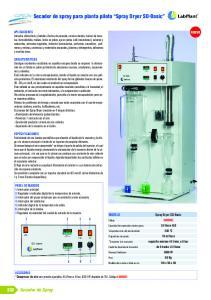 Secador de spray para planta piloto Spray Dryer SD-Basic