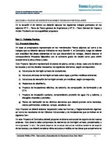 SECCION 4: PLIEGO DE ESPECIFICACIONES TECNICAS PARTICULARES