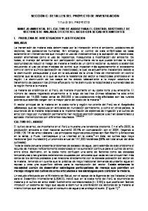 SECCION C: DETALLES DEL PROYECTO DE INVESTIGACION