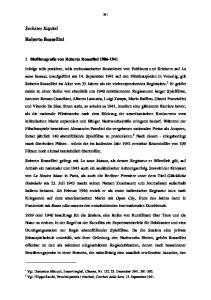 Sechstes Kapitel. Roberto Rossellini. 1 Biofilmografie von Roberto Rossellini
