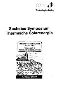 Sechstes Symposium Thermische Solarenergie
