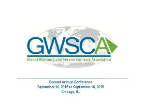 Second Annual Conference September 16, 2015 to September 18, 2015 Chicago, IL