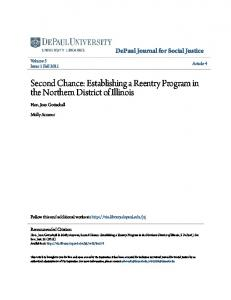 Second Chance: Establishing a Reentry Program in the Northern District of Illinois