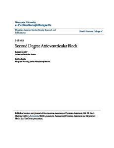 Second Degree Atrioventricular Block