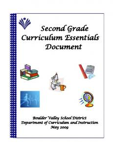 Second Grade Curriculum Essentials Document