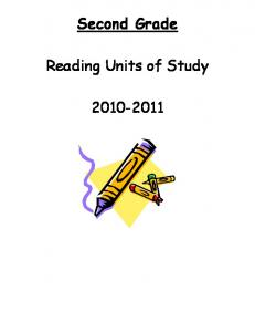 Second Grade. Reading Units of Study
