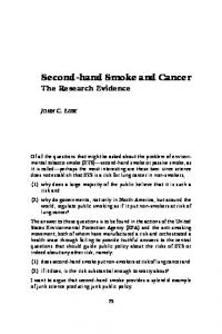 Second-hand Smoke and Cancer