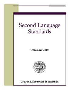 Second Language Standards