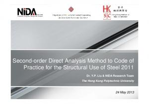 Second-order Direct Analysis Method to Code of Practice for the Structural Use of Steel 2011