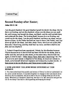Second Sunday after Easter;